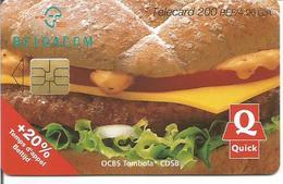 Télécarte De BELGIQUE - QUICK Tombola ( SO3 - 200 BEF - Expiration 30/11/2003 ) - Belgique