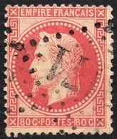 NAPOLEON LAURE N° 32a ROSE CARMINE OB. LOS. GC TB COTE > 45 € - 1853-1860 Napoleon III
