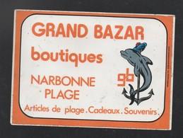 GRAND BAZAR BOUTIQUE NARBONNE PLAGE * DAUPHIN *- AUTOCOLLANT REF: 114 - Stickers