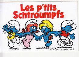 Les P'tits Schtroumpfs Ancien Autocollant Sticker Peyo 1988 - Stickers