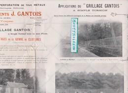 Vieux Papier:  Brochure SAINT DIE  Vosges : J. Gantois , Cloture , Grillage ( Usine à Mandray,Colroy La Gde., Monthureux - Vieux Papiers