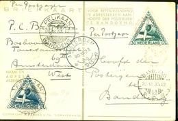 L.P.  Uit 1933 PER POSTJAGER * PELIKAAN * Gelopen Van AMSTERDAM Naar BANDOENG NEDERLANDS-INDIE V.v. RETOUR   (11.240e) - Netherlands Indies