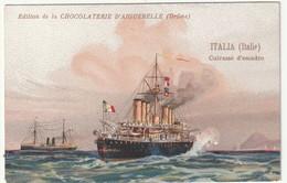 """Chromo Chocolaterie D'aiguebelle """"cuirassé D'escadre"""" ITALIA (italie) - Chocolate"""