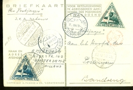 L.P.  Uit 1933 PER POSTJAGER * PELIKAAN * Gelopen Van AMSTERDAM Naar BANDOENG NEDERLANDS-INDIE V.v. RETOUR   (11.240g) - Netherlands Indies