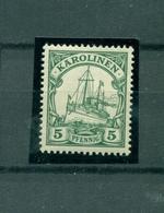 Karolinen, Schiffszeichnung, Mi.-Nr. A 21 Postfrisch ** - Kolonie: Karolinen
