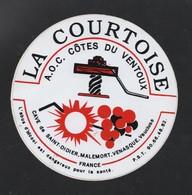 VIN LA COURTOISE AOC COTES DU VENTOUX CAVE DE SAAINT DIDIER MALEMORT VENASQUE - AUTOCOLLANT REF: 120 - Stickers