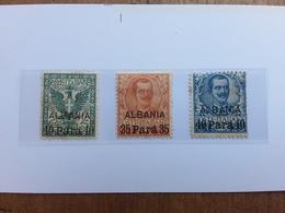UFFICI POSTALI ALL'ESTERO - ALBANIA Nn. 1/3 Nuovi * + Spese Postali - 11. Uffici Postali All'estero