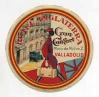 SPAIN, Valladolid - Hotel Inglaterra - Luggage Label - (415) - Hotel Labels