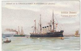"Chromo Chocolaterie D'aiguebelle ""cuirassé D'escadre""  RUSSIA  (russie) - Chocolate"