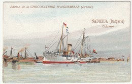 """Chromo Chocolaterie D'aiguebelle """"cuirassé """" Nadiedja  (Bulgarie) - Chocolate"""