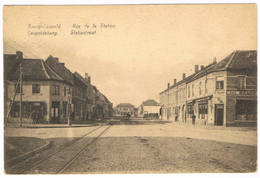 Bourg-Léopold - Rue De La Station 1925   (Geanimeerd) - Leopoldsburg