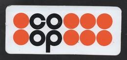 COOP MAGASIN SUPERMARCHE - AUTOCOLLANT REF: 123 - Stickers