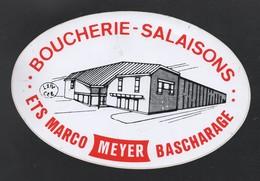 ETS MARCO BOUCHERIE SALAISONS MEYER BACHARAGE - AUTOCOLLANT REF: 124 - Stickers