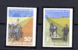 1965   Belgique,  75° Boerenbond, 1340 /  1341** Non Dentelé (tirage 320 Ex), - Belgium