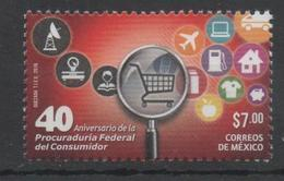 MEXICO, 2016, MNH, CONSUMER RIGHTS,PLANES,  1v - Stamps