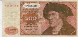 Germany - 500 Deutsche Mark - Advertising Bill - Spielgeld - Muster - 100 X 50 Mm - [ 7] 1949-… : FRG - Fed. Rep. Of Germany