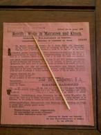 Document  Voor Het Inbrengen  Van   WOL  En GELD    Brussel 1918 - 1914-18