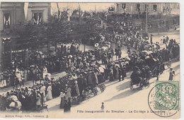 Lausanne - Fête Inauguration Du Simplon - Le Cortège - 1906        (P-165-41229) - VD Vaud
