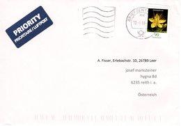Auslands - Brief Von Briefzentrum 26 Mit  90 Cent Blumen 2018 - BRD