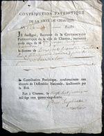 28 CHARTRES  1792  CONTRIBUTION PATRIOTIQUE DE LA VILLE DE CHARTRES SANCTIONNEE PAR LE ROI - Documents Historiques