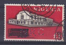 Nigeria Perfin Perforé Lochung 'NRC' 1£ Bahnhof Lagos (2 Scans) - Nigeria (1961-...)