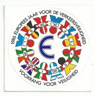Sticker - 1986 Europees Jaar V/d Veiligheid - Stickers