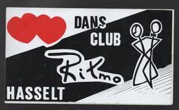 RITMO HASSELT * DANS CLUB DISCOTHEQUE * - AUTOCOLLANT REF: 140 - Stickers