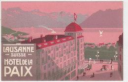 Lausanne - Hotel De La Paix - Carte Publicitaire        (P-165-41229) - VD Vaud