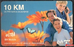 Bosnia Sarajevo - ULTRA PREPAID CARD (recharge) 10 KM Typ IV - Bosnia