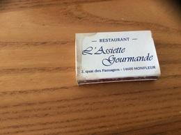 """Boîte D'allumettes SEITA """"L'Assiette Gourmande HONFLEUR (14) / MAÎTRES CUISINIERS DE FRANCE"""" - Boites D'allumettes"""