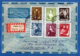 Enveloppe / De Triptis / Pour Englewood ( USA) / 8-7-57 - DDR
