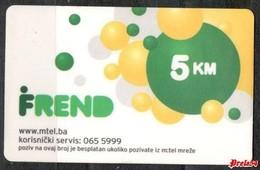 Bosnia Srpska - Mtel (recharge) 5 KM - Bosnia