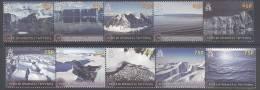 BRITISH ANTARCTIC TERRITORY, BAT, 2012,GLACIERS,A NTARCTIC LANDSCAPE  PHOTOS,10v , MNH,NICE - Unclassified