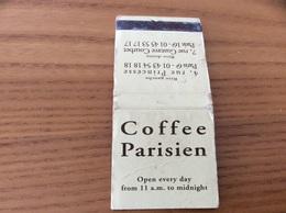 Pochette D'allumettes SEITA «Coffee Parisien PARIS» - Boites D'allumettes