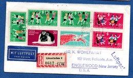 Enveloppe Recommandée  / De Crimmitschau / Pour Englewood ( USA) - DDR