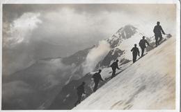CAMPO TENCIA → 6er Seilschaft Im Aufstieg, Fotokarte Anno 1923 - TI Tessin