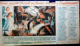 POMPIERS DEUX CALENDRIERS 1950 ET 1952 A LA GLOIRE DES SOLDATS DU FEU  6 SCAN BON ETAT - Firemen