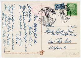 """Sonderstempel """"MÜNCHEN Oktoberfest 1955""""  Ansichtskarte Nach Hof - [7] West-Duitsland"""