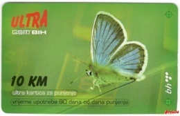Bosnia BHT Sarajevo - ULTRA PREPAID CARD (recharge) 10 KM - Bosnia