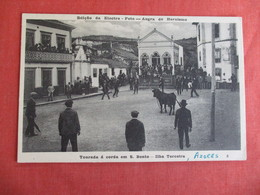 Azores Running With The Bulls 1951 APO Cancel  Ref 3009 - Stieren
