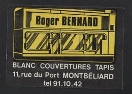 ROGER BERNARD MONTBELIARD  * BLANC COUVERTURE PARIS *- AUTOCOLLANT REF: 150 - Stickers