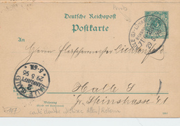 ZZ920 -  Allemagne Entier Avec REPONSE  Utilisé En 1896 - Aller AMBULANT Vers HALLE Et Retour Vers NAUENDORF - Brieven En Documenten
