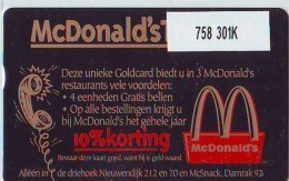 Telefoonkaart  LANDIS&GYR  NEDERLAND * RCZ.758   301K * McDonalds Triangle  * TK * ONGEBRUIKT * MINT - Nederland