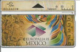 Télécarte De BELGIQUE - EUROPALIA 93 MEXICO - Sans Puce