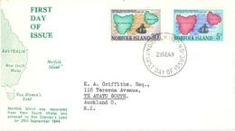 NORFOLK ISLAND - FDC - 29.9.1969 - 125st ANNIVERSARY - Yv 102-103 - Lot 17608 - Ile Norfolk