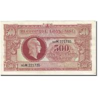 France, 500 Francs, 1943-1945 Marianne, 1945, 1945-06-04, TTB+, Fayette:VF11.2 - Trésor