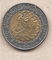 """San Marino - Moneta Circolata Da 500 Lire """" - 1992 - San Marino"""