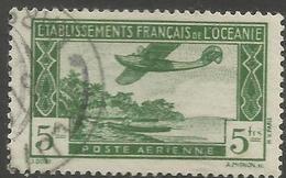 Oceania -  1934 Airmail 5fr  Used   Mi 126  Sc C1 - Océanie (Établissement De L') (1892-1958)