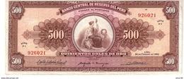 Peru P.91 500 Soles 1965  Vf+ - Perù