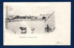 56. Vannes. Etang Du Duc. Paysan Et Ses Vaches. 1901 - Vannes